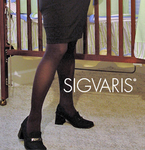 Women's Sheer Fashion Support Maternity Pantyhose (OTC) by Sigvaris