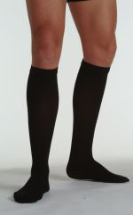 Juzo Soft Ribbed Compression Calf Stockings for Men