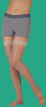 Juzo Naturally Sheer Compression Stockings (Open Toe)