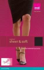 Mediven Sheer & Soft Closed Toe, Regular Length Compression Maternity Pantyhose